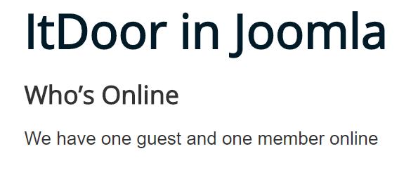 Joomla Website Module Who's Online mit 1 Gast und 1 eingeloggten Besucher