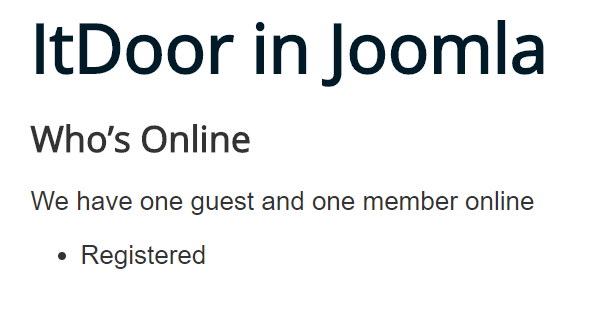 Joomla Website Module Who's Online Feld Display ist Both