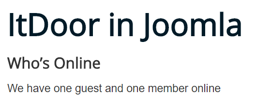 Joomla Website Modul Who's Online Filer Groups ist Yes