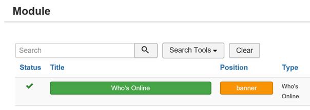 Joomla Module Who's Online für Article aussuchen