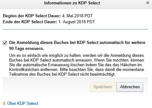 automatische Verlängerung bei KDP Select Klaus Normal