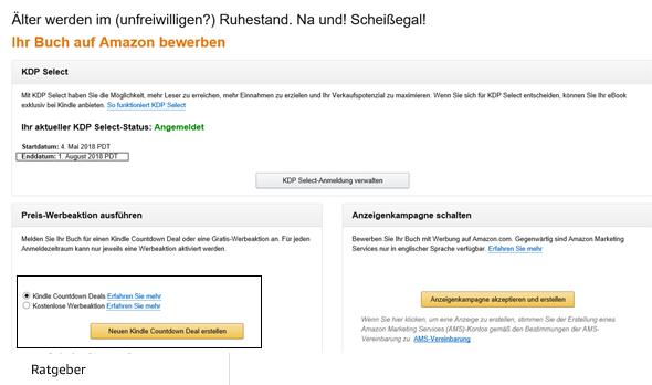 Amazon Zugang zu den Preiswerbeaktionen ausführen Klaus Normal