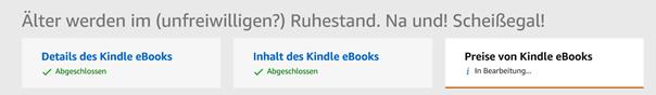 """Der Bereich """"Inhalt des Kindle eBooks"""" ist jetzt abgeschlossen Klaus Normal"""