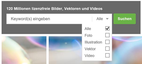 Die Suchhilfe von Adobe Stock bzw. Fotalia Klaus Normal