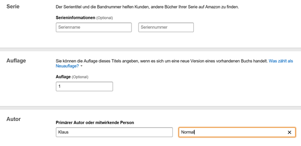 Felder der Details des Kindle Ebooks 2 Klaus Normal
