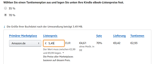 Manuskript Größe Amazon Klaus Normal