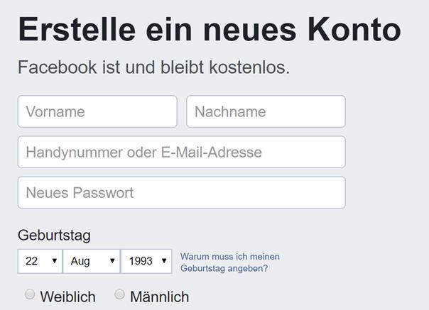 facebook passwort vergessen keine e mail