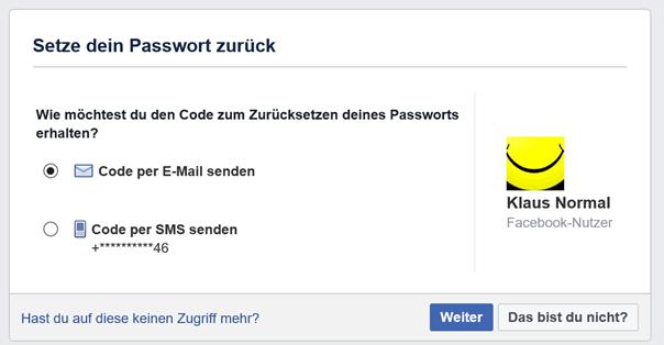 Facebook: Setze dein Passwort zurück