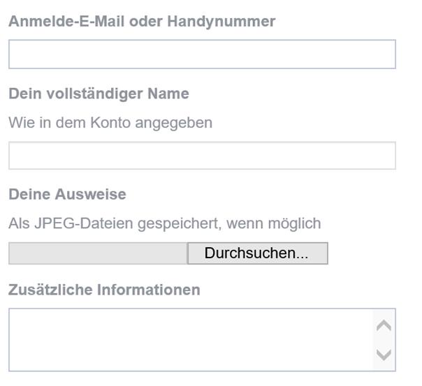 Schritt 5: Facebook will noch zusätzlich einen Ausweis haben
