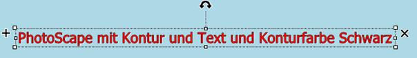 PhotoScape-Texteffekt mit Textfarbe und mit Konturfarbe