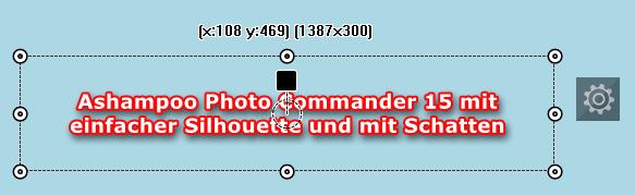 Photo Commander 15 -Texteffekt: Einfache Silhouette mit Schatten