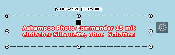 Photo Commander 15 -Texteffekt: Einfache Silhouette ohne Schatten