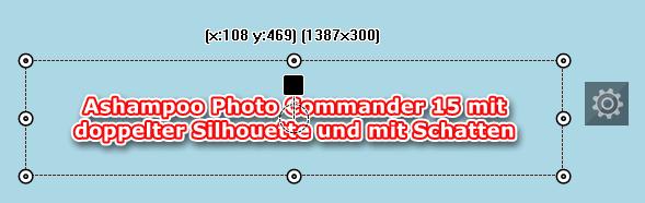 Photo Commander 15 -Texteffekt: Doppelte Silhouette mit Schatten
