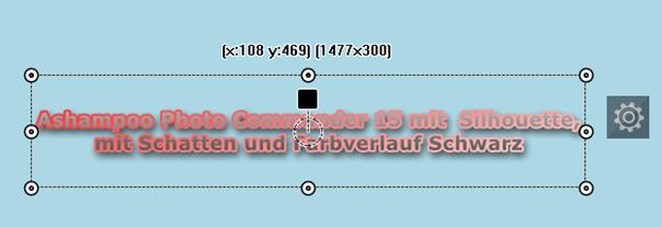 Photo Commander 15 -Texteffekt: Silhouette mit Schatten und mit Farbverlaufsfarbe Schwarz