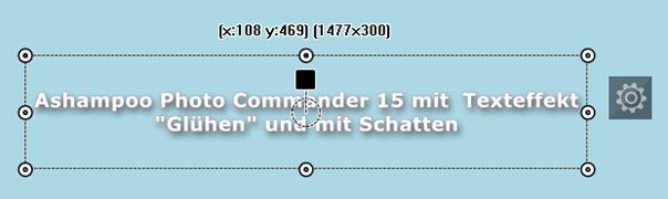 Photo Commander 15 -Texteffekt: Glühen und mit Schatten