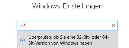 Windows Überprüfung ob 32-Bit oder 64-Bit Version