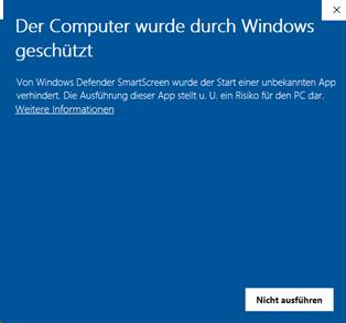 Computer wurde durch Windows geschützt (Nachricht 1)