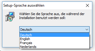 Jutoh Setup-Sprache auswählen