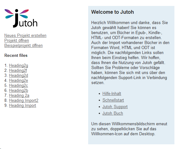 Herzlich Willkommen zu Jutoh