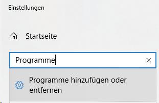 Windows: Programme hinzufügen oder entfernen