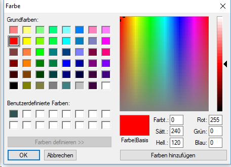 Farbauswahl für den Rahmen einer Text Box in Jutoh