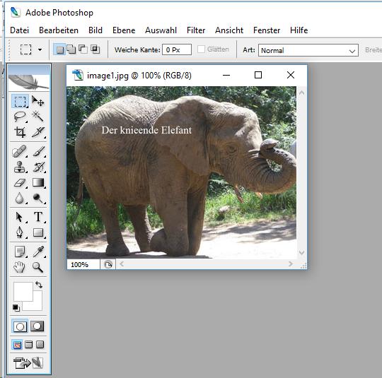 Adobe Photoshop CS2 in Jutoh aufgerufen