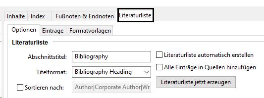 Jutoh ohne Programmierung ein Literaturverzeichnis erstellen