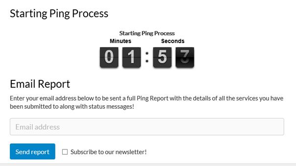 Ping Process bei Pingler