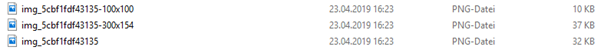 Upload Verzeichnis WordPress 3 Bilddateien ohne Vorschaubild