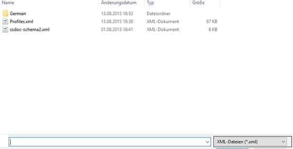 Beispiel: XML-Datei muss nach dem Festplattenwechsel importiert werden