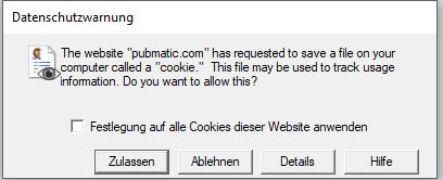 Datenschutzwarnung vom Internet Explorer