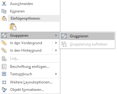 Word Funktion Gruppieren