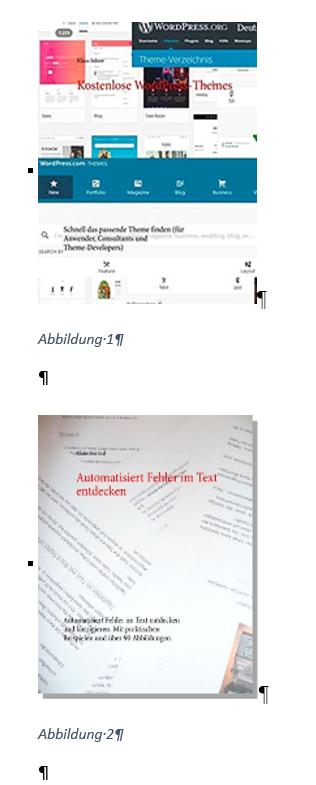 Word Standard Nummerierung der Beschriftungen beginnt bei 1