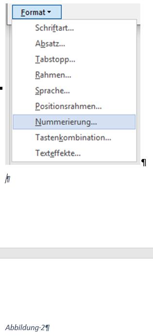 Word Abbildung mit Beschriftung auf der nächsten Seite