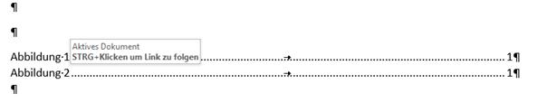 Word Vom Abbildungsverzeichnis auf die Abbildungsbeschriftung springen
