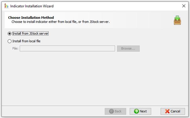 Indicator Installation Wizard JStock