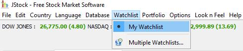 Watchlist in JStock anlegen