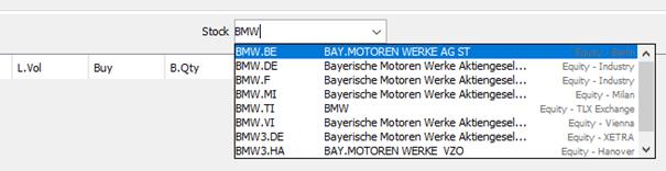 Das Symbol für die BMW-Aktie ist bei jeder Börse anders