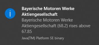 Meldung JStock: Kurs der BMW-Aktie über 67,85