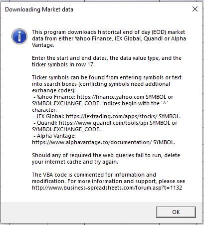 Downloading Market Data