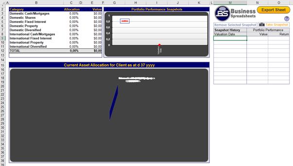 Registerkarte Graph in Portfolio Performance Monitoring