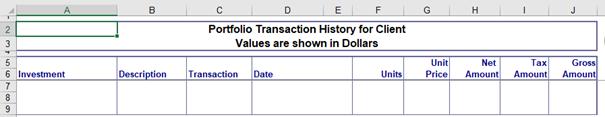 Registerkarte History in Portfolio Performance Monitoring