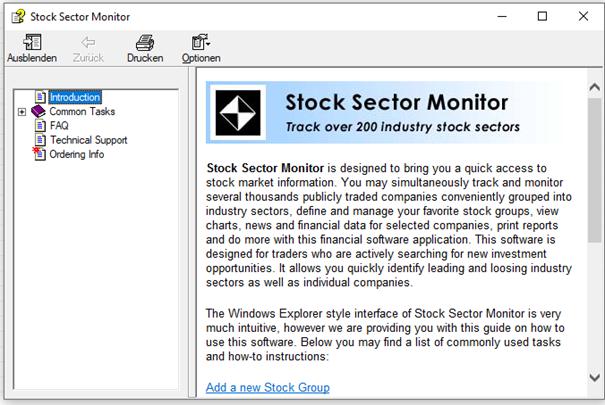 Handbuch von Stock Sector Monitor