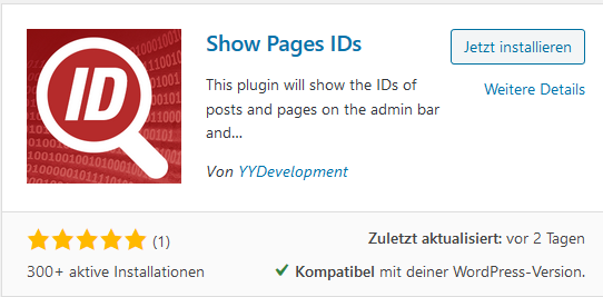 Show ID Plugin Show Pages IDs