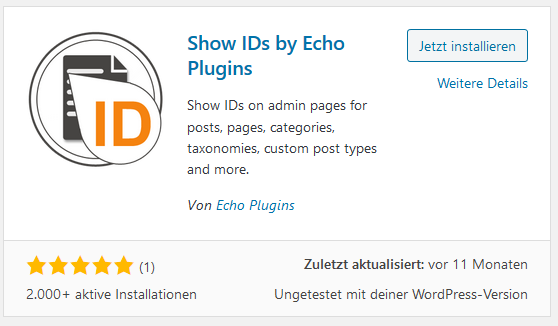 Show ID Plugin Show IDs by Echo Plugins