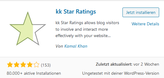 Rating Plugin kk Star Ratings