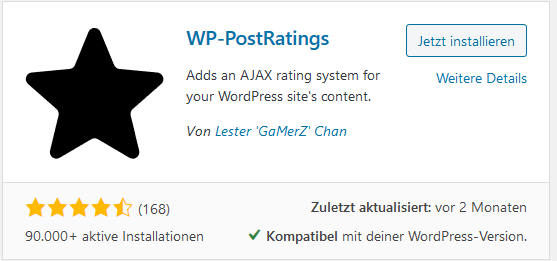 Rating Plugin WP-PostRatings