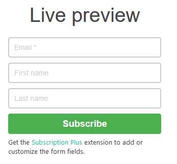Anmeldeformular Popup Builder Live Preview