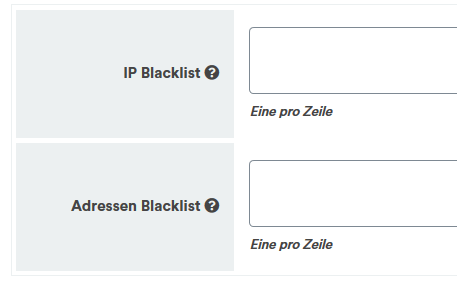 Plugin Newsletter Registerkarte Blacklists für Spamschutz