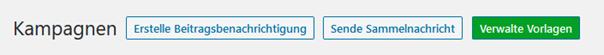 Plugin Email Subscribers Sende Sammelnachricht = Sammelnachricht erstellen